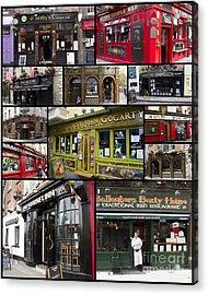 Pubs Of Dublin Acrylic Print by David Smith