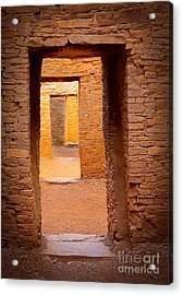 Pueblo Doorways Acrylic Print by Inge Johnsson