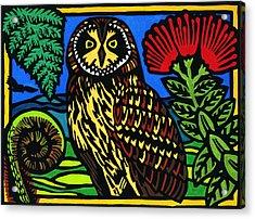 Pueo Mana Acrylic Print by Lisa Greig