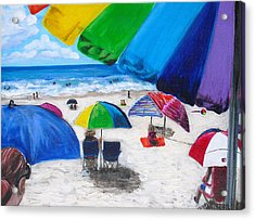 Puerto Rico Beach Acrylic Print by Melissa Torres