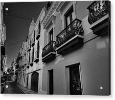 Puerto Rico - Old San Juan 003 Bw Acrylic Print by Lance Vaughn