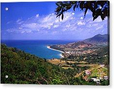 Puerto Rico Sea View Acrylic Print by Thomas R Fletcher