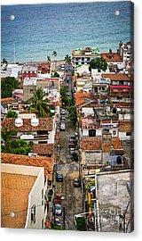 Puerto Vallarta Street Acrylic Print by Elena Elisseeva