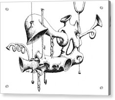 Pull My Chain Sweetheart Acrylic Print by Sam Sidders