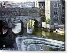 Pulleney Bridge Acrylic Print by Bob Phillips