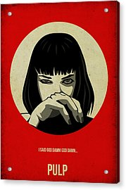 Pulp Fiction Poster Acrylic Print by Naxart Studio