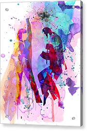 Pulp Watercolor Acrylic Print by Naxart Studio