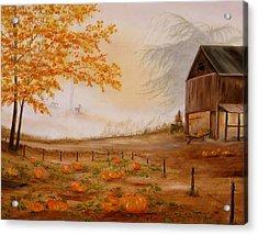 Pumpkin Patch Acrylic Print by RJ McNall