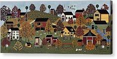 Pumpkin Season Acrylic Print by Medana Gabbard