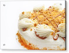Pumpkin Spice Drizzle Cake 2 Acrylic Print by Andee Design