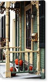 Pumpkins On The Porch Acrylic Print by John Rizzuto