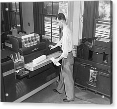 Punch Card Accounting Machines Acrylic Print by Underwood Archives