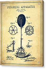 Punching Apparatus Patent Drawing From 1895 -vintage Acrylic Print by Aged Pixel