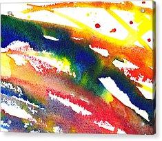Pure Color Inspiration Abstract Painting Streaming Hue Acrylic Print by Irina Sztukowski