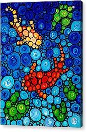 Pure Koi Joi Acrylic Print by Sharon Cummings