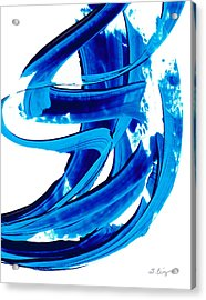 Pure Water 304 - Blue Abstract Art By Sharon Cummings Acrylic Print by Sharon Cummings