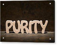 Purity Acrylic Print by Donald  Erickson