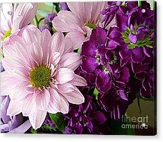 Purple And Pink Acrylic Print by Avis  Noelle
