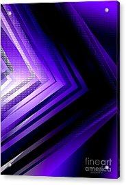 Purple Black And White Geometry Acrylic Print by Mario Perez