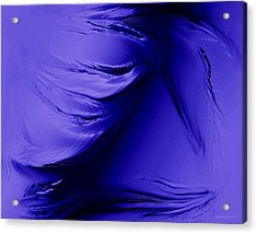 Purple Effect And Texture Acrylic Print by Mario Perez