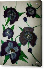 Purple Floral Burst Acrylic Print by Bamhs Blair