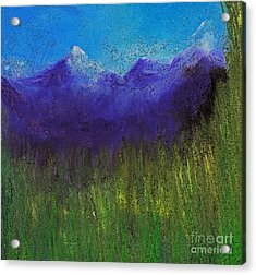 Purple Mountains By Jrr Acrylic Print by First Star Art