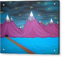 Purple Mountains Acrylic Print by Robert Nickologianis