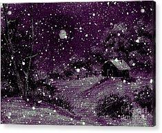 Purple Night Full Moon Acrylic Print by Barbara Griffin