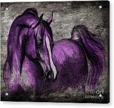 Purple One Acrylic Print by Angel  Tarantella