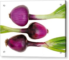 Purple Onions  Acrylic Print by Jim Hughes