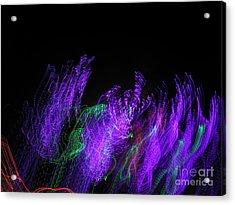 Purple Passion. Dancing Lights Series Acrylic Print by Ausra Huntington nee Paulauskaite