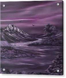 Purple Rain 2 Acrylic Print by Cynthia Adams