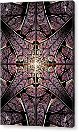 Purple Shield Acrylic Print by Anastasiya Malakhova