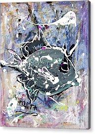 Purple Triggerfish Acrylic Print by Dustin Porta