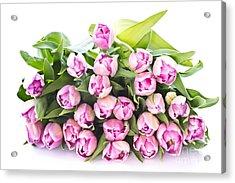 Purple Tulips Acrylic Print by Boon Mee