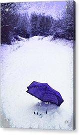 Purple Umbrella Acrylic Print by Amanda Elwell