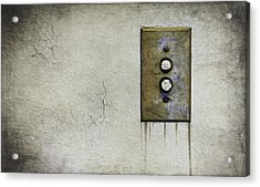 Push Button Acrylic Print by Scott Norris
