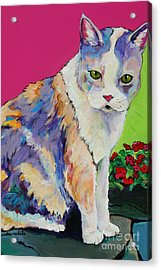 Puurl Acrylic Print by Pat Saunders-White
