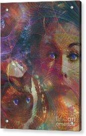 Pyewacket And Gillian Acrylic Print by John Robert Beck