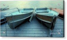 Pyramid Lake Row Boats Acrylic Print by Bob Christopher