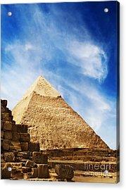 Pyramids In Egypt  Acrylic Print by Jelena Jovanovic