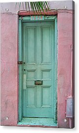Quaint Little Door In The Quarter Acrylic Print by Brenda Bryant