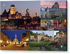 Quebec City Acrylic Print by Juergen Roth