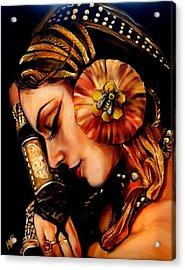 Queen Bee Acrylic Print by Em Kotoul