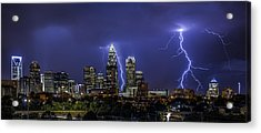Queen City Strike Acrylic Print by Chris Austin