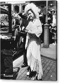 Queen Elizabeth Fashion Acrylic Print by Underwood Archives
