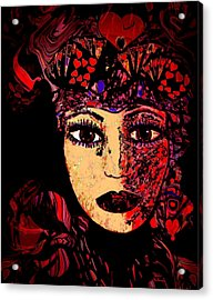 Queen Of Hearts Acrylic Print by Natalie Holland