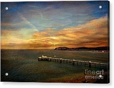 Queen Of The Welsh Resorts Acrylic Print by Adrian Evans