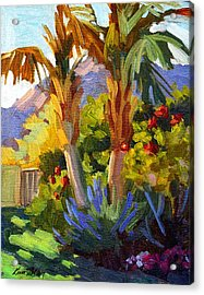 Queen Palms Acrylic Print by Diane McClary