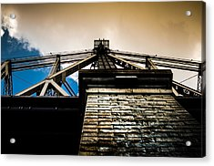Queensboro Bridge Acrylic Print by Joshua Ayers
